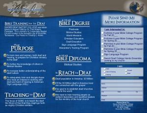 Ministry Brochure (Inside)